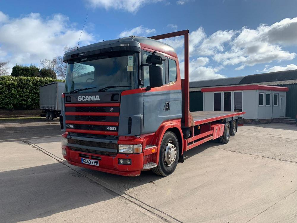 Scania 124 420 6x2 RearLift Axle 12-Speed Manual Gearbox