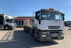 Iveco<br>Stralis 260 6x2 Rear Lift Axle Flatbed Body 2007 57 Reg