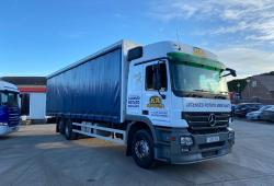 Mercedes<br>Actros 2532 6x2 Rear Lift Axle Curtainsider Body 2008 08 Reg