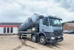 Mercedes Arocs<br>3240 8x4 Stainless Vacuum Tipping Tanker 2016 16 Reg