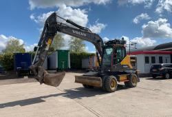 Volvo EW160E<br>Wheeled Excavator Outriggers 7,000 Hours  Year : 2017