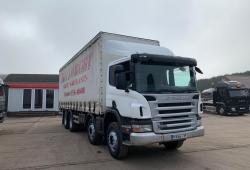 Scania P340<br>8x4 Double Diff Manual Gearbox Curtainsider Body 2006 56 Reg