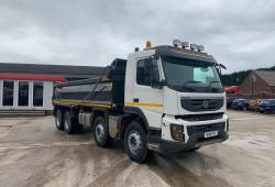 Volvo<br>FMX 380 8x4 Thompson Steel Bodied Tipper 2011 61 Reg
