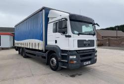 MAN TGA 26.320<br>Sleeper Cab 6x2 Rear Lift Axle Curtainsider Body 2007 07 Reg
