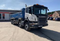 Scania P365<br>8x4 Thompson Steel Body Easy Sheet System 2011 11 Reg