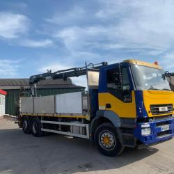 Iveco Stralis 310 6x2 Brick and Block Lorry Hiab Crane 2006 56 Reg