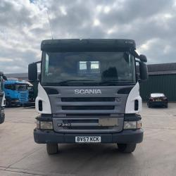 Scania P340 8x4 Hook Loader 8-Speed Manual Gearbox 2007 57 Reg