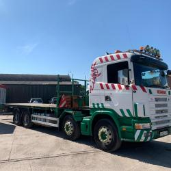 Scania 124 420 12-Speed Manual Gearbox 8x2 Flatbed Body 2003 03 Reg