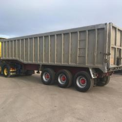 Crane Fruehauf Step frame Bulk Tipping Trailer ROR Axles Drum Brakes